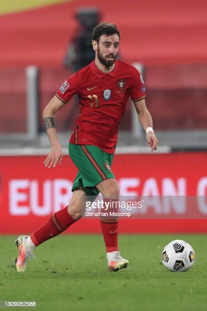Bruno Fernandes of Portugal during the FIFA World Cup 2022 Qatar qualifying match between Portugal and Azerbaijan at Allianz Stadium on March 24,...