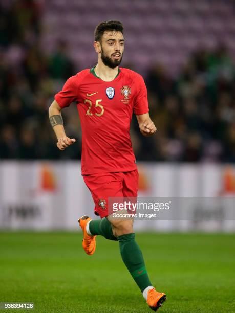 Bruno Fernandes of Portugal during the International Friendly match between Portugal v Holland at the Stade de Geneve on March 26 2018 in Geneve...