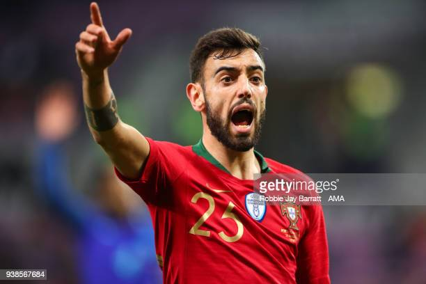 Bruno Fernandes of Portugal during the International Friendly match between Portugal and Holland at Stade de Geneve on March 26 2018 in Geneva...