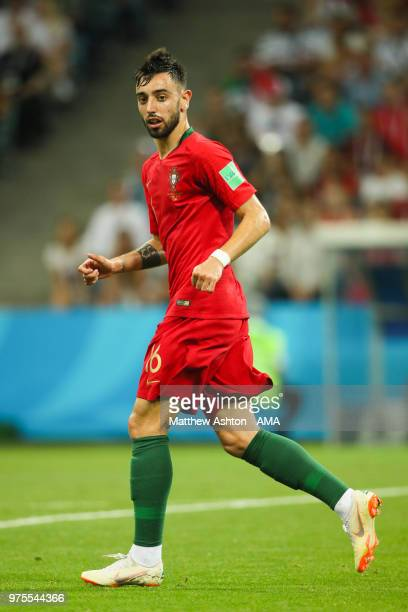 Bruno Fernandes of Portugal in action during the 2018 FIFA World Cup Russia group B match between Portugal and Spain at Fisht Stadium on June 15 2018...