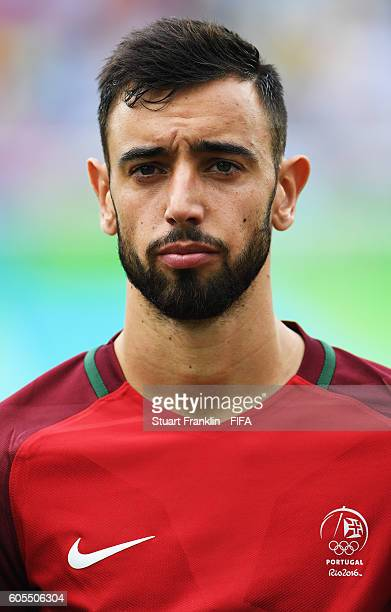 Bruno Fernandes of Portugal looks on during the Olympic Men's Football match between Honduras and Portugal at Olympic Stadium on August 7 2016 in Rio...