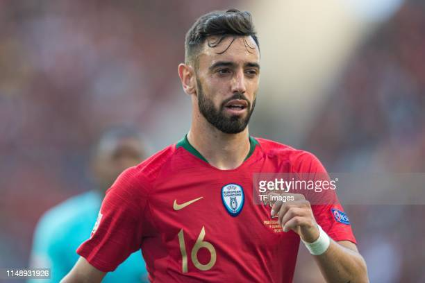 Bruno Fernandes of Portugal looks on during the UEFA Nations League Final between Portugal and the Netherlands at Estadio do Dragao on June 9 2019 in...