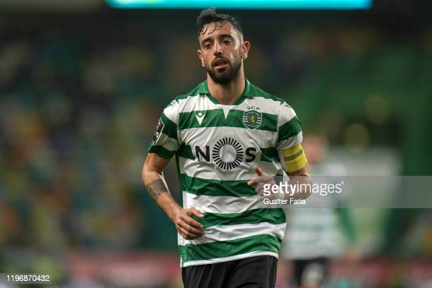 Bruno Fernandes of Sporting CP during the Liga NOS match between Sporting CP and CS Maritimo at Estadio Jose Alvalade on January 27 2020 in Lisbon...