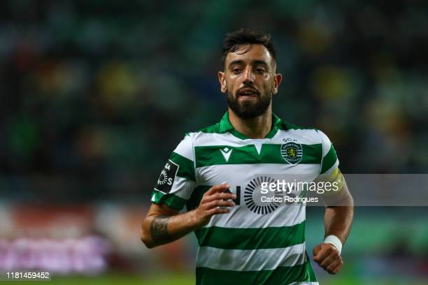 Bruno Fernandes of Sporting CP during the Liga Nos round 11 match between Sporting CP and Belenenses at Estadio Jose Alvalade on November 10 2019 in...