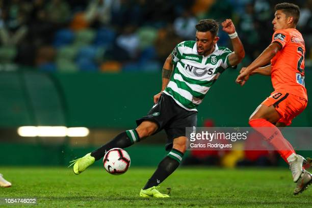 Bruno Fernandes of Sporting CP during the Liga NOS round 8 match between Sporting CP and Boavista FC at Estadio Jose Alvalade on October 28 2018 in...