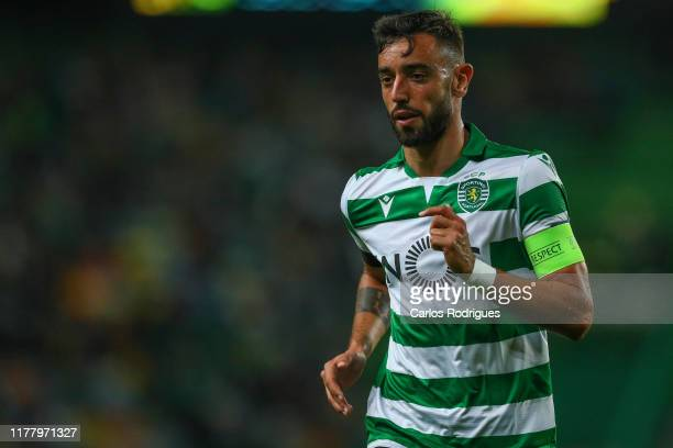 Bruno Fernandes of Sporting CP during the UEFA Europa League group D match between Sporting CP and Rosenborg BK at Estadio Jose Alvalade on October...
