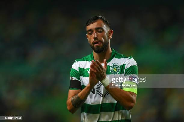 Bruno Fernandes of Sporting CP during the UEFA Europa League group D match between Sporting CP and PSV Eindhoven at Estadio Jose Alvalade on November...