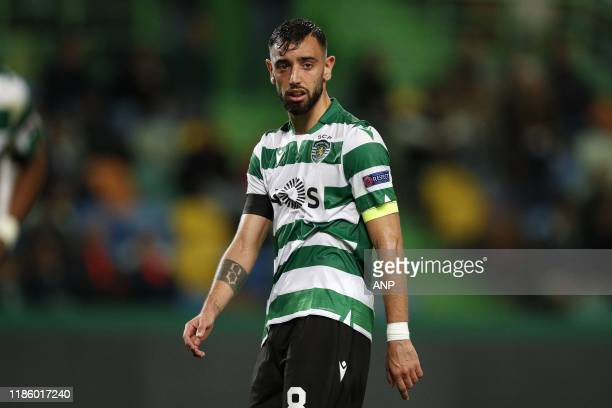 Bruno Fernandes of Sporting CP during the UEFA Europa League group D match between Sporting Club de Portugal and PSV Eindhoven at the Estadio Jose...