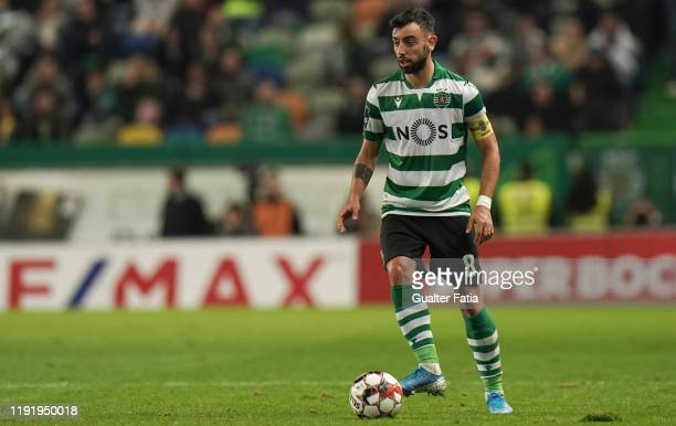Bruno Fernandes of Sporting CP in action during the Liga NOS match between Sporting CP and FC Porto at Estadio Jose Alvalade on January 5 2020 in...