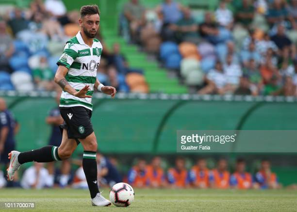 Bruno Fernandes of Sporting CP in action during the PreSeason Friendly match between Sporting CP and Empoli FC at Estadio Jose Alvalade on August 5...