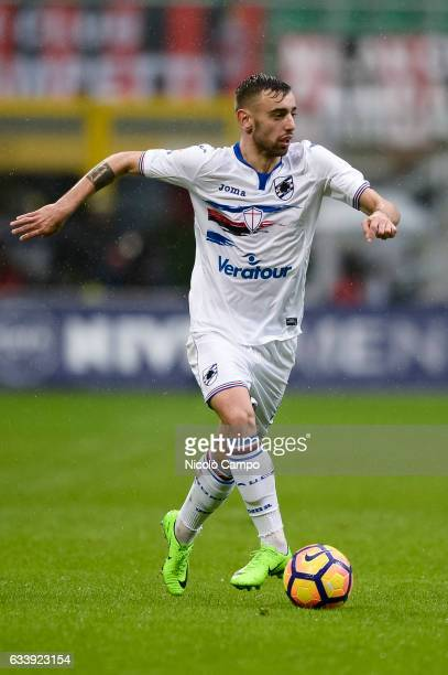 Bruno Fernandes of UC Sampdoria in action during the Serie A football match between AC Milan and UC Sampdoria UC Sampdoria wins 10 over AC Milan