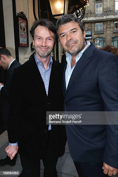 Bruno Finck and and productor Stephane Gateau attend Homage To French Actor JeanClaude Brialy at Theatre des Bouffes Parisiens with the screening of...