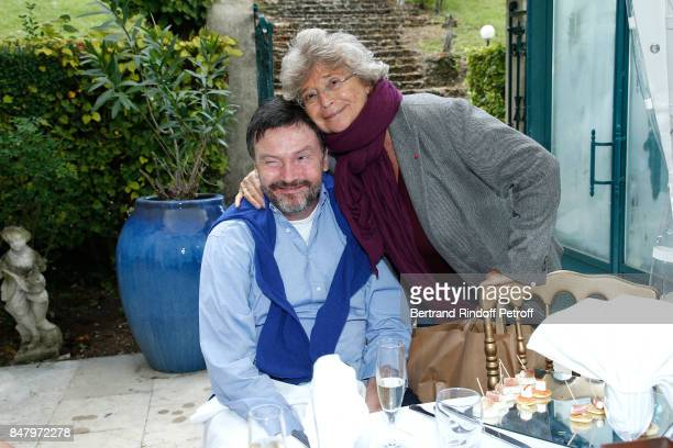 Bruno Finck and Jacqueline Franjou attend the Garden Party organized by Bruno Finck companion of JeanClaude Brialy at Chateau De Monthyon on...