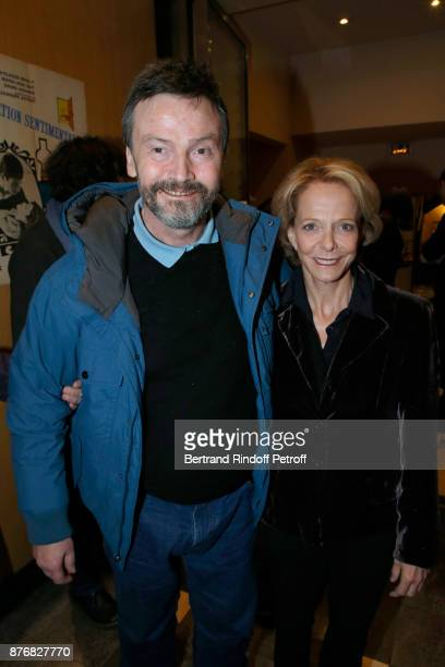 Bruno Finck and President of the Centre National du Cinema et de l'Image Animee Frederique Bredin attend the Tribute to JeanClaude Brialy for the...
