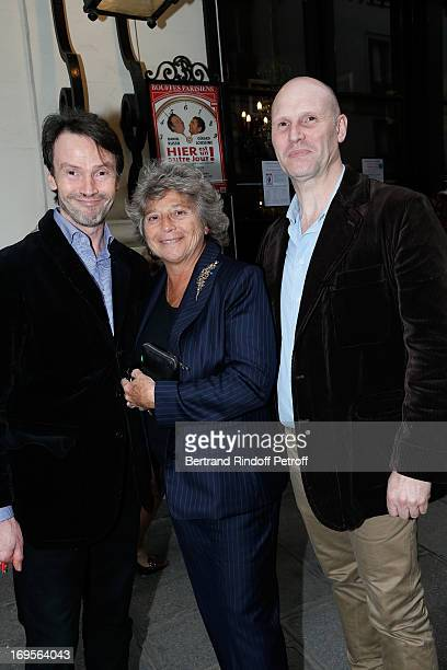 Bruno Finck Creator of Ramatuelle Festival Jacqueline Franjou and Philippe Finck attend Homage To French Actor JeanClaude Brialy at Theatre des...