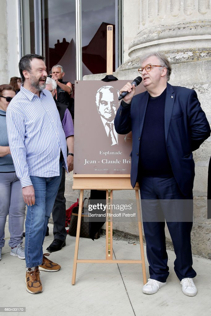 Bruno Fink and Dominique Besnehard attend Tribute To Jean-Claude Brialy during 'Journees Nationales du Livre et du Vin'on May 14, 2017 in Saumur, France.