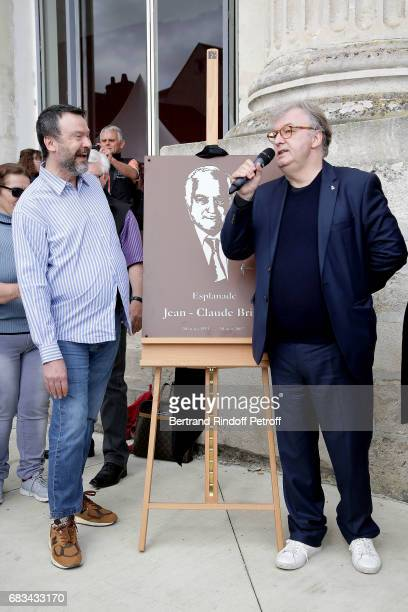"""Bruno Fink and Dominique Besnehard attend Tribute To Jean-Claude Brialy during """"Journees Nationales du Livre et du Vin""""on May 14, 2017 in Saumur,..."""
