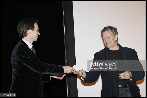 Bruno Fink and Francis Huster at Homage To Jean-Claude Brialy At Theatre Des Bouffes Parisiens .