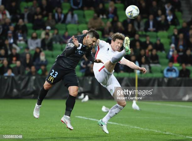 Bruno Fornaroli of Melbourne City attempts a shot on goal during the FFA Cup quarterfinal match between Melbourne City and Western Sydney Wanderers...
