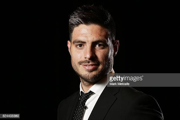 Bruno Fornaroli of Melbourne City poses after winning the Nike Golden Boot Award during the 2016 FFA Dolan Warren Awards at Carriageworks on April 26...