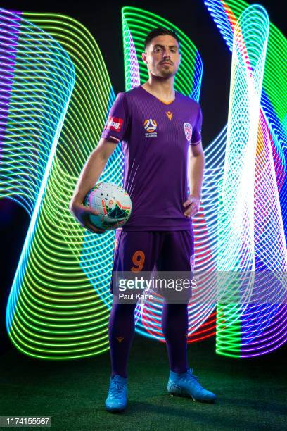 Bruno Fornaroli poses during the Perth Glory 2019/20 ALeague Headshots Session at Glory HQ on September 12 2019 in Perth Australia