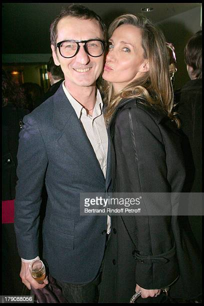 Bruno Frisoni and Marie Moatti at Party For The Opening Of The Prada Boutique Avenue Montaigne