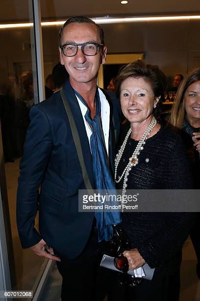 Bruno Frisoni and MarieLouise de Clermont Tonnerre attend the 4O Rue de Sevres Preview at the Head Offices of Both Kering and Balenciaga building The...