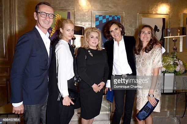 Bruno Frisoni Aymeline Valade Catherine Deneuve Ines de la Fressange and Ambra Medda attend Roger Vivier Cocktail Event Honouring Ambra Medda as part...
