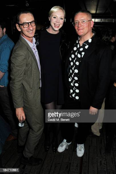 Bruno Frisoni Gwendoline Christie and Giles Deacon attend the Roger Vivier Virgule London launch party hosted by Atlanta de Cadenet Ines de la...