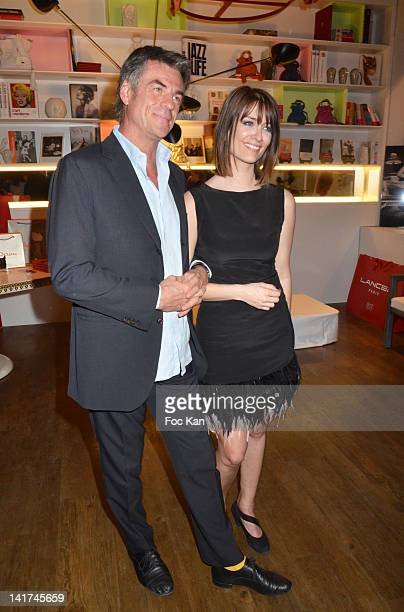 Bruno Gaccio and Diane Ducret attend 'Prix Bel Ami 2012' Women Literary Awards at Hotel Bel Ami on March 22 2012 in Paris France