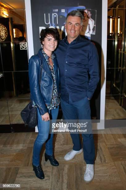 Bruno Gaccio and his companion Director AnneLaure Gruet attend the 'Un Poyo Rojo' Theater Play celebrates its 10th Anniversary at Theatre Antoine on...