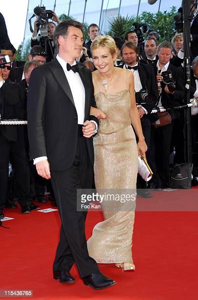 "Bruno Gaccio and Melita Toscan Du Plantier during 2006 Cannes Film Festival - ""Marie Antoinette"" Premiere at Palais des Festival in Cannes, France."