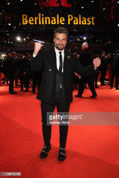 Bruno Gagliasso poses at the Marighella premiere during the 69th Berlinale International Film Festival Berlin at Berlinale Palace on February 15 2019...