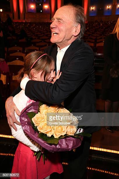 Bruno Ganz and Anuk Steffen Heidi during the Bavarian Film Award 2016 at Prinzregententheater on January 15 2016 in Munich Germany