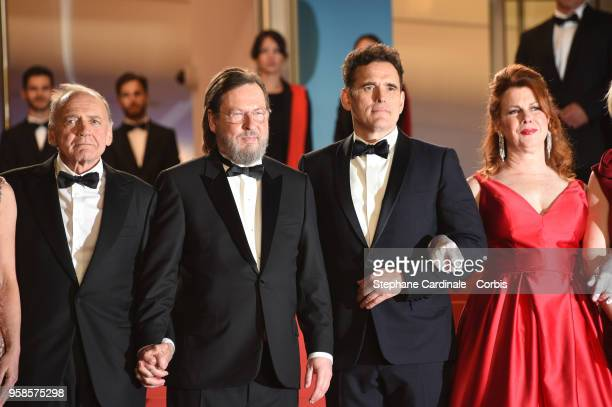 Bruno Ganz Lars von Trier Matt Dillon and Siobhan Fallon Hogan attends the screening of The House That Jack Built during the 71st annual Cannes Film...
