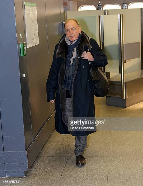 Bruno Ganz sighting at Tegel airport on January 31 2014 in Berlin Germany