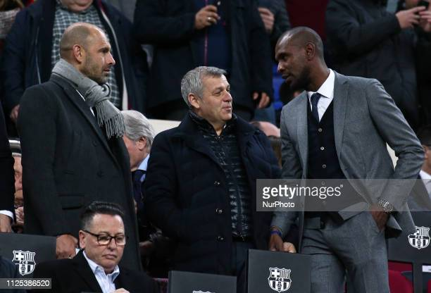 Bruno Genesio coach of Lyon and Eric Abidal during the match between FC Barcelona and Valladolid CF corresponding to the week 34 of the Liga...