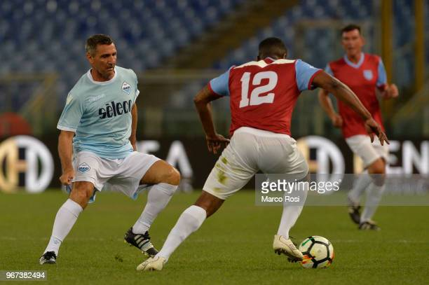 Bruno Giordano glory of SS Lazio during the match between SS Lazio Legends and West Ham Legends part of the event 'Di Padre In Figlio' on June 4 2018...