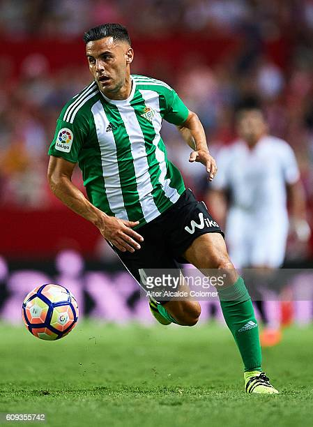 Bruno Gonzalez of Real Betis Balompie in action during the match between Sevilla FC vs Real Betis Balompie as part of La Liga at Estadio Ramon...