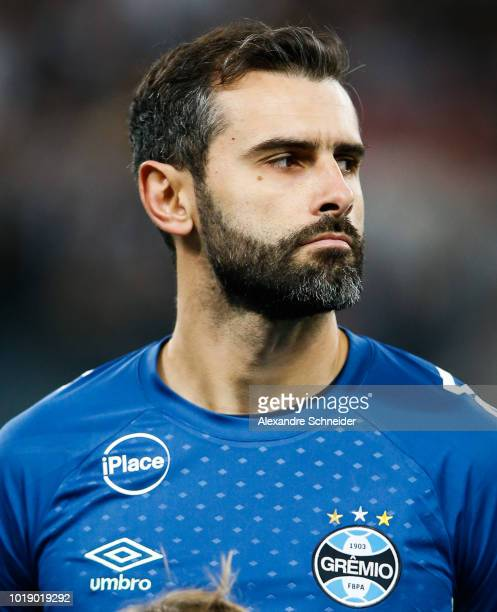 Bruno Grassi of Gremio poses for photo before the match against Corinthians for the Brasileirao Series A 2018 at Arena Corinthians Stadium on August...