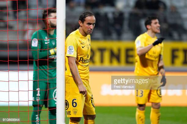 Bruno Grougi of Brest during the Ligue 2 match between Nancy and Brest on January 26 2018 in Nancy France
