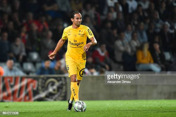 Bruno Grougi of Brest during the Ligue 2 match between Nimes Olympique and Stade Brestois at on October 20 2017 in Nimes France