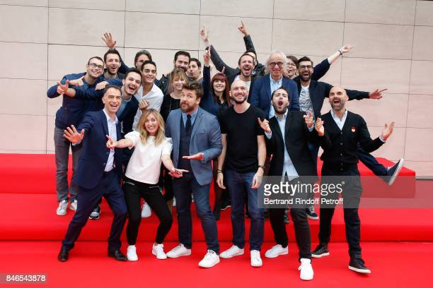 Bruno Guillon and the Team of Fun Radio attend the RTL RTL2 Fun Radio Press Conference to announce their TV Schedule for 2017/2018 at Elysee Biarritz...
