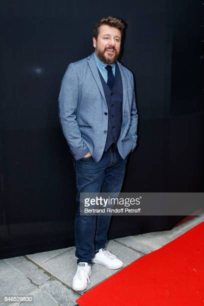 Bruno Guillon 'Bruno dans la radio' on Fun Radio attends the RTL RTL2 Fun Radio Press Conference to announce their TV Schedule for 2017/2018 at...