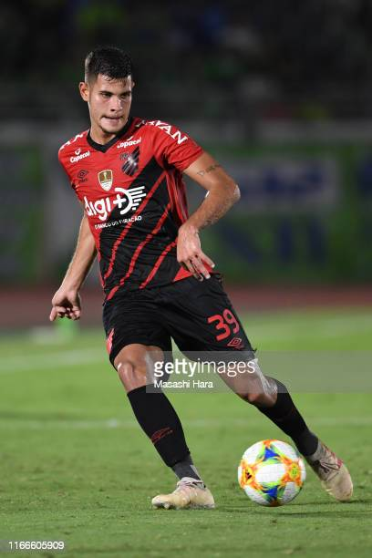 Bruno Guimaraes of Atretico Paranaense in action during the game between Shonan Bellmare and Athletico Paranaense at Shonan BMW Stadium Hiratsuka on...