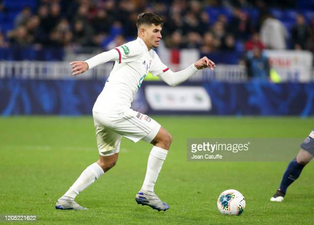 Bruno Guimaraes of Lyon during the French Cup Semi Final match between Olympique Lyonnais and Paris SaintGermain at Groupama Stadium on March 4 2020...