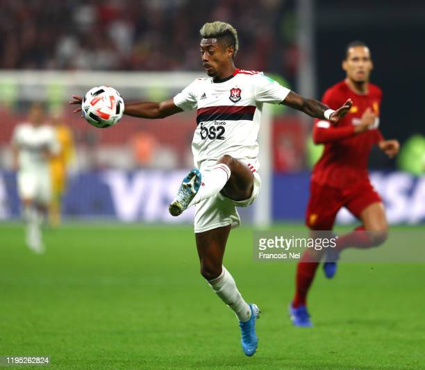 Bruno Henrique of CR Flamengo controls the ball during the FIFA Club World Cup Qatar 2019 Final between Liverpool FC and CR Flamengo at Education...
