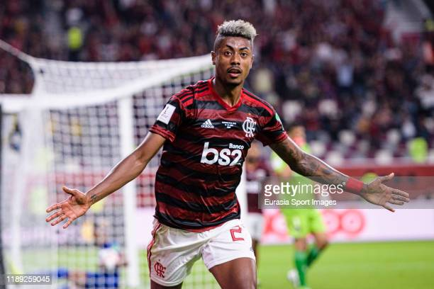 Bruno Henrique of Flamengo celebrates after scoring the second goal of his team during the FIFA Club World Cup SemiFinal match between CR Flamengo...