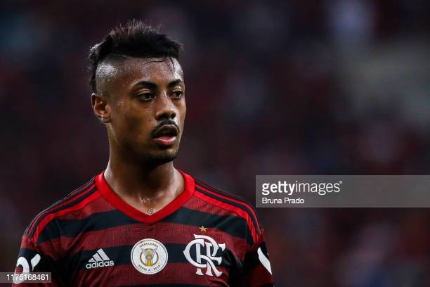 Bruno Henrique of Flamengo looks on during a match between Flamengo and Atletico MG as part of Brasileirao Series A 2019 at Maracana Stadium on...