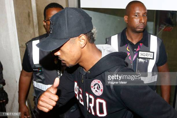 Bruno Henrique of Flamengo team arrives in Rio after playing the FIFA Club World Cup Qatar 2019 Final Against Liverpool on December 22 2019 in Rio de...